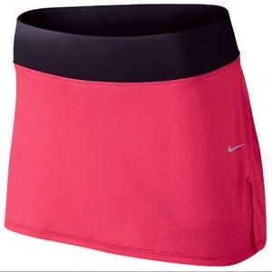 Nike Dri-Fit Knit Running Skort Coral Pink/Navy